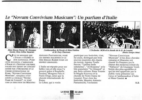 2000_Le revue du Liban
