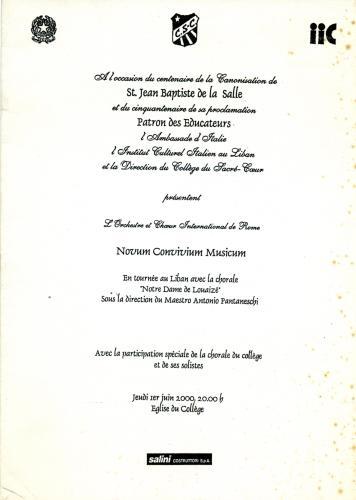 2000_Messa Giubileo_Beirut_Notre Dame Louaizè