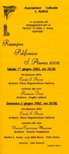 2002_Giu_S.Aurea_Ostia