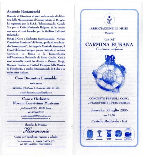 2006_Carmina Burana_Castello Itri