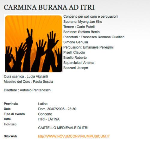 2006_Carmina Itri