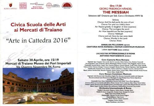 2016_Messiah Haendel-Mercati-Traiano